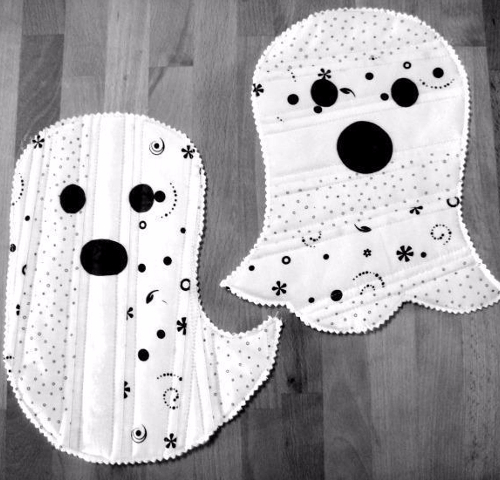 ghost mug rugs quilt as you go pattern