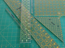how to use a quilting ruler properly
