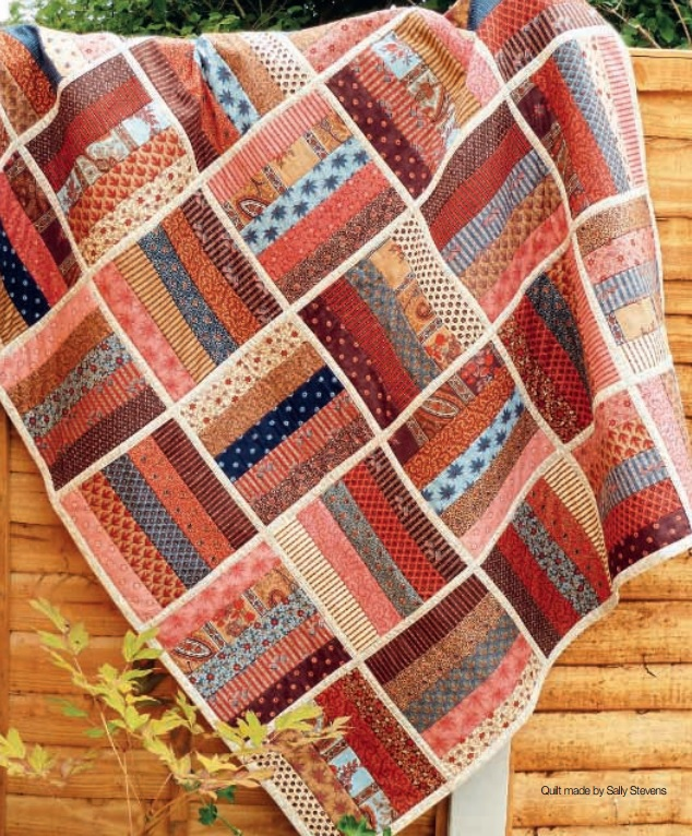jelly roll rail fence quilt