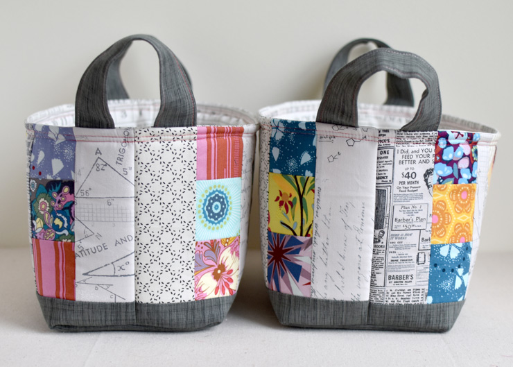 one hour basket to fit fat quarters