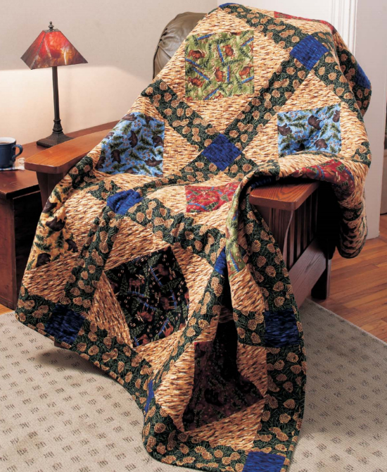 quilts for men outdoor and woodsy