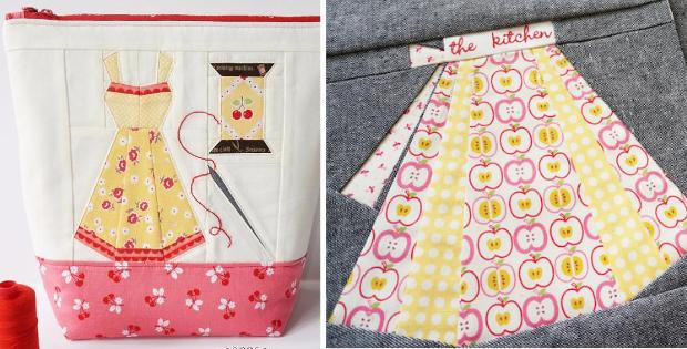 vintage apron notions pouch