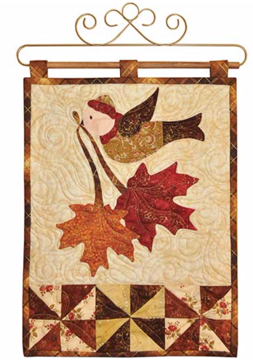 Autumn Wall hanging with bird Vintage style