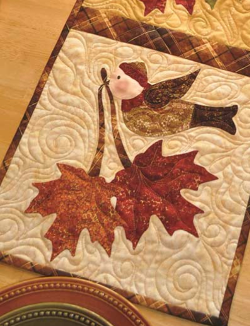 Autumn placemats with bird