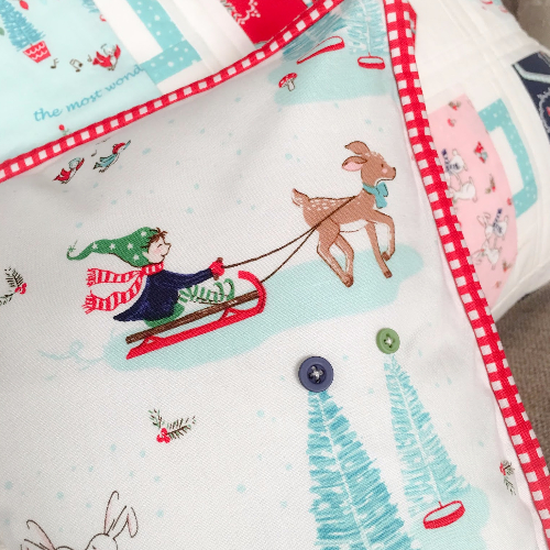 Christmas Throw pillow Pixie Noel