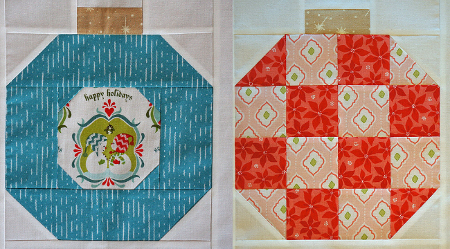 Christmas ornament blocks Vintage Holiday quilt