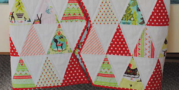 A Christmas Tree Quilt Without Making Christmas Trees