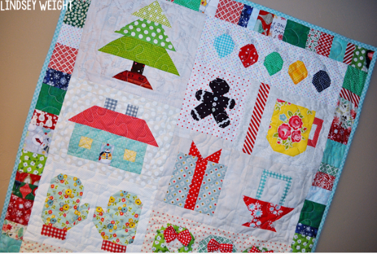 Christmas quilt Lori Holt Quilty Fun