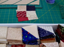 Fons and Porter quarter inch seam half square triangle shortcuts
