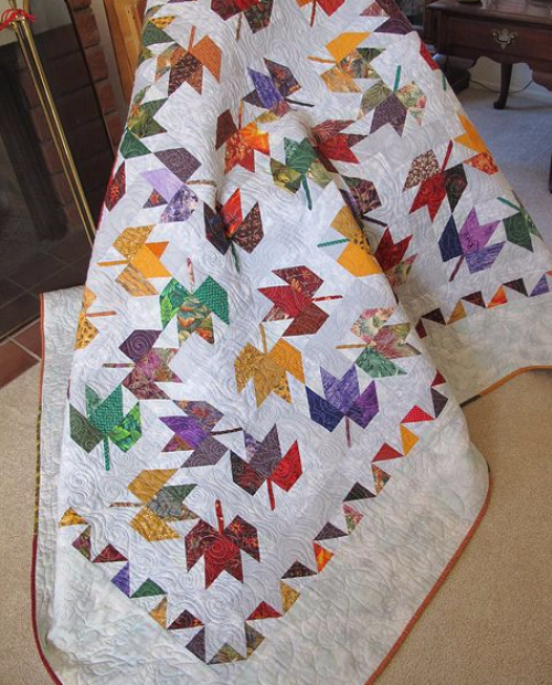 Maple leaf quilt The Creative Pattern Book
