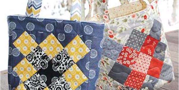 Mini charm squares tote bag