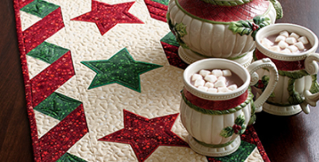 Stars And Ribbons Table Runner For The Holidays Or Any Special Time