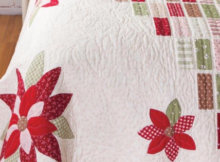 Quilters World Autumn Poinsettia quilt