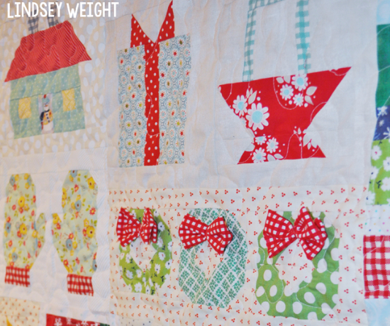 Quilty Fun quilt blocks Christmas wall hanging