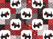 Scottish Charm Kanvas studios quilt with scottie dogs