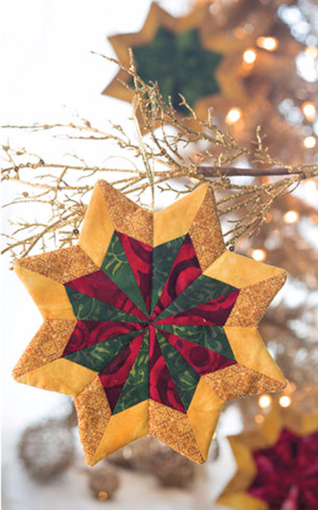Star fabric Christmas ornaments