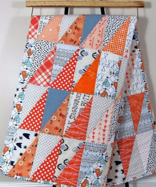 half rectangle triangle quilt
