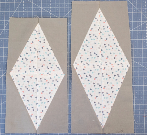 how to make a half rectangle diamond quilt block