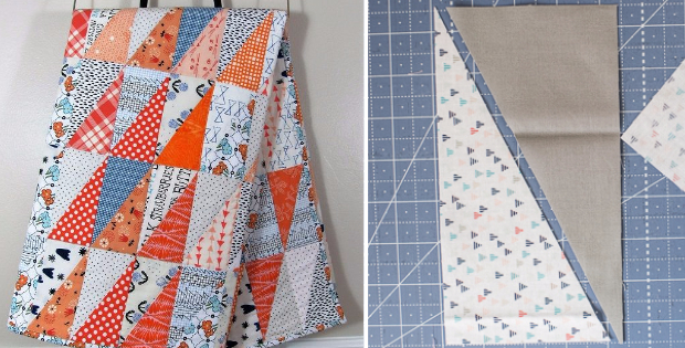 how to sew half rectangle triangle in any size