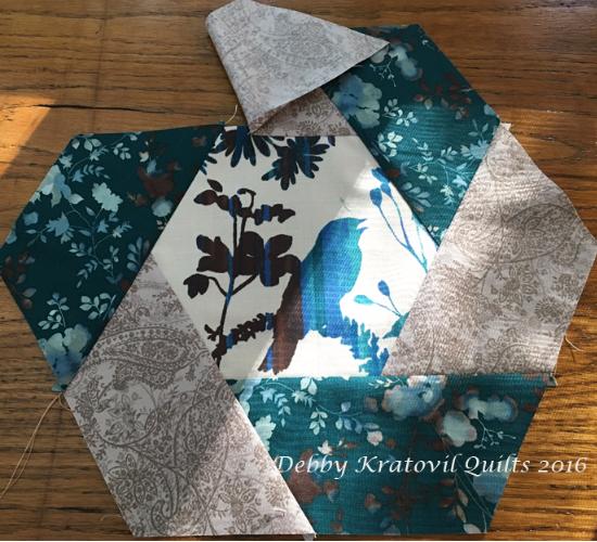 mug rug bird fabric