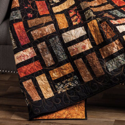 quilting idea for a jelly roll quilt