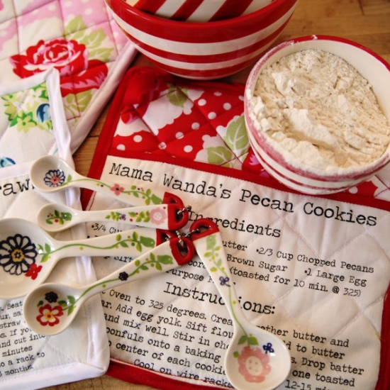 recipes on fabric for pot holders