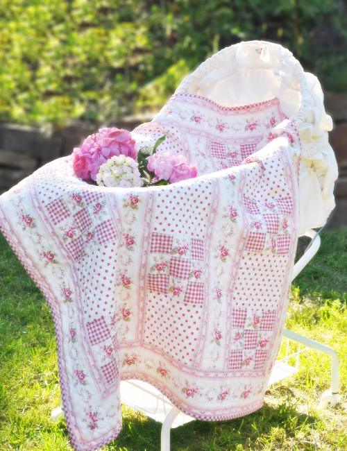 vintage floral fabric Dream Baby quilt