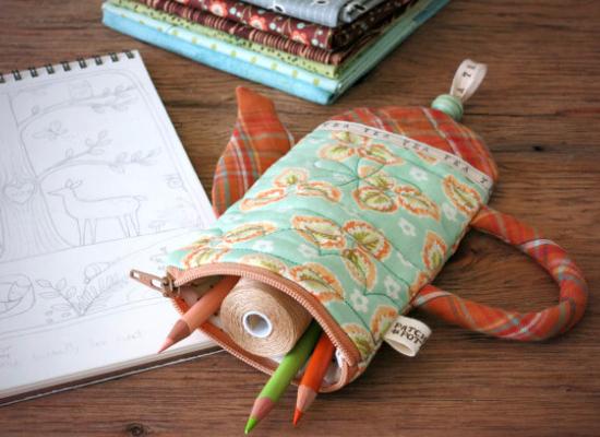 zipper pouch teapot pencil case
