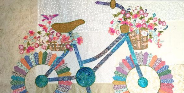 Bicycle quilt Sally Manke
