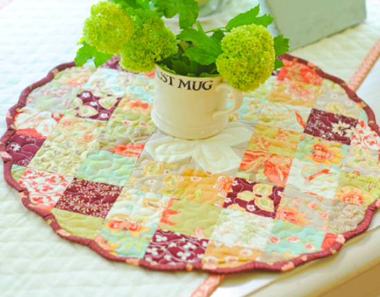 Blossoms and Jam topper Fig Tree Quilt
