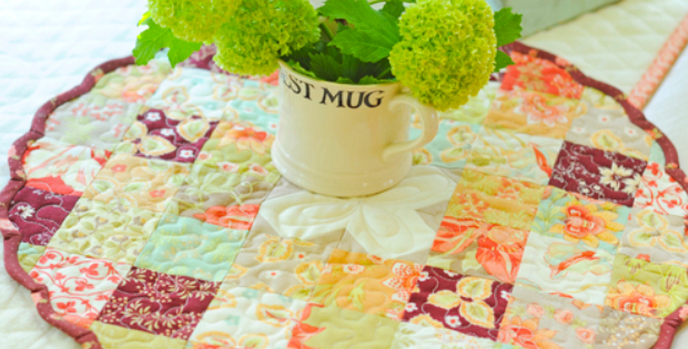 Charm pack table topper Fig tree quilt pattern