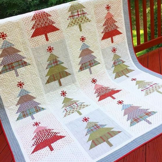 Santas Tree Farm Quilt Merry And Bright Quilting Cubby