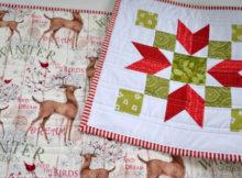 Poinsettia table runner Christmas Collection