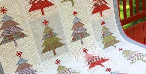 Santa's Tree Farm quilt Wendy Sheppard