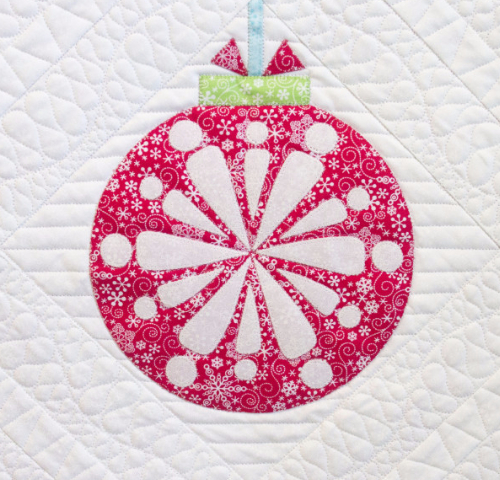 christmas ornament quilt block medallion