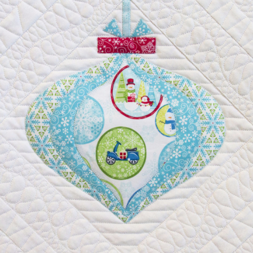 christmas ornament quilt block teardrop