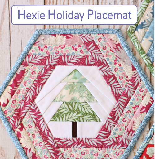 hexagon placemat pot holder mug rug holiday