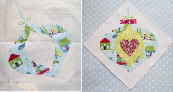 how to make christmas ornament quilt blocks