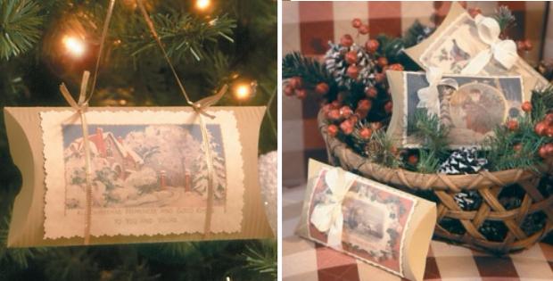 make a box tree ornament