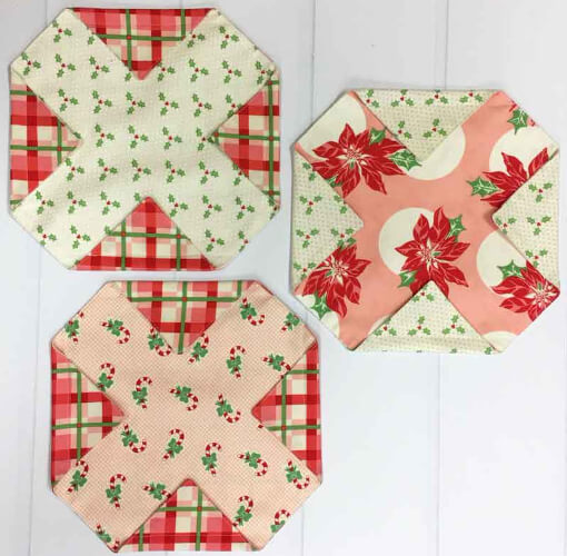 quilt blocks to make fabric pouches
