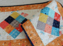 scrappy nine patch table runner