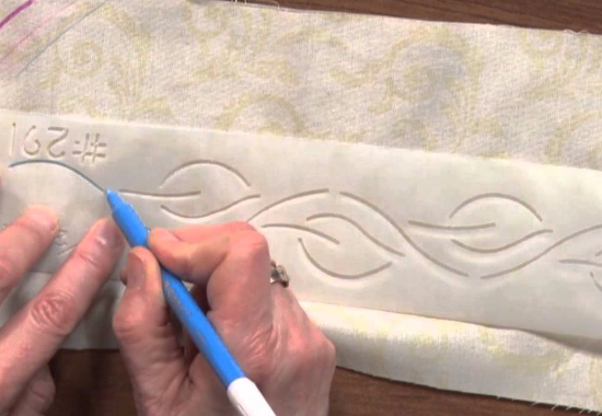 use a quilting stencil and marker