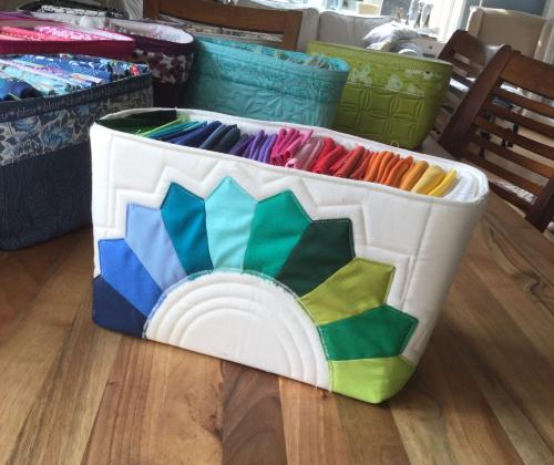 Dresden plate fabric basket