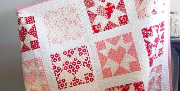 Handmade with Love Thimbleberries Heart quilt