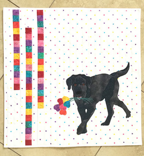 Puppy Love wall hanging
