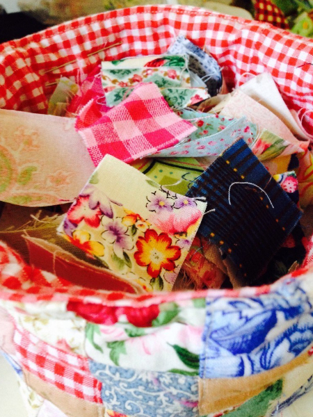 country style fabric basket