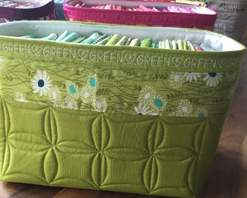 fabric basket to store fat quarters