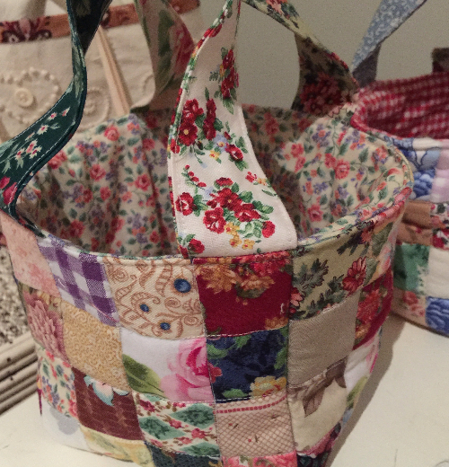 fabric baskets for sewing notions