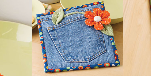 jeans hot pad