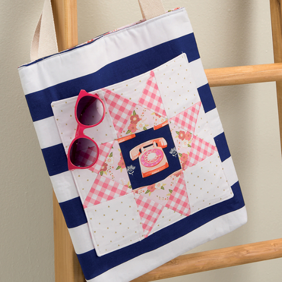 lunch hour patchwork tote pattern